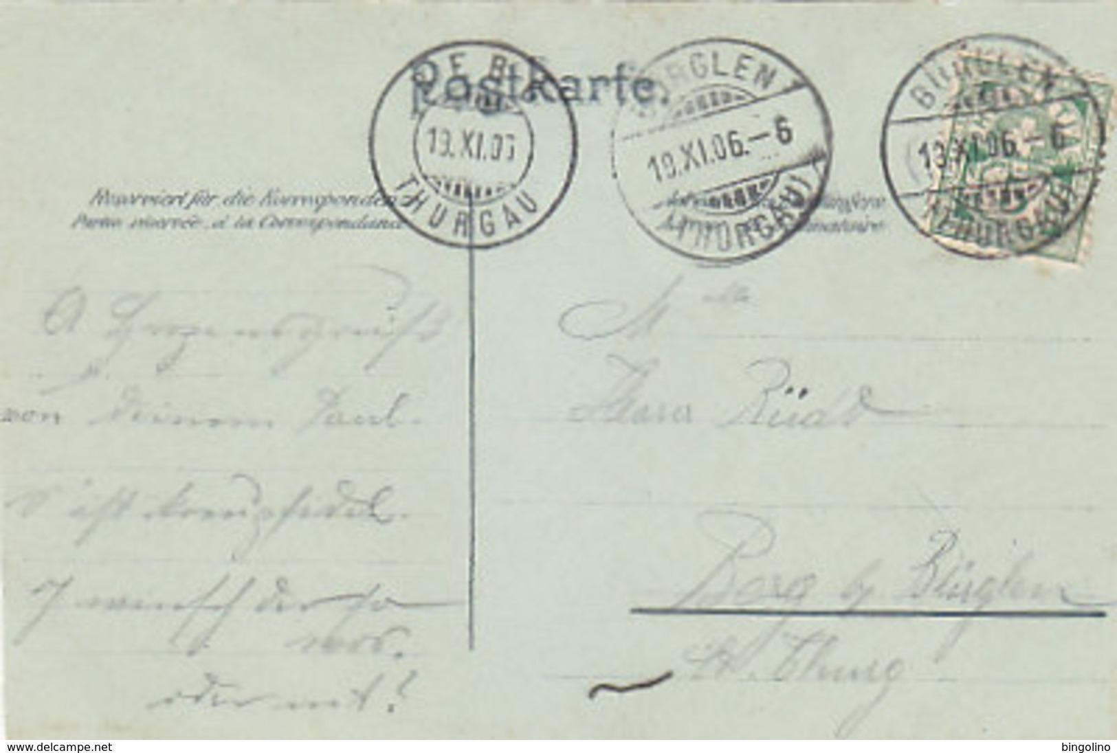 Gruss Von Der T.C.E. Chilbi - Signiert - Gel.im Thurgau - 1906   (P-219-90515) - Fêtes - Voeux