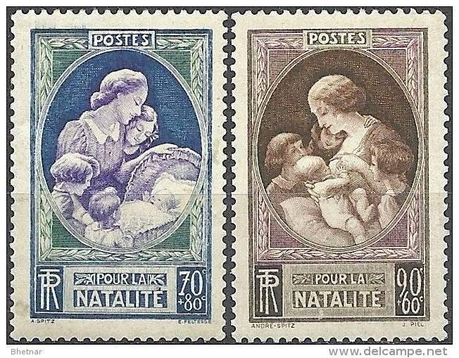 """FR YT 440 & 441 """" En Faveur De La Natalité """" 1939 Neuf** - France"""