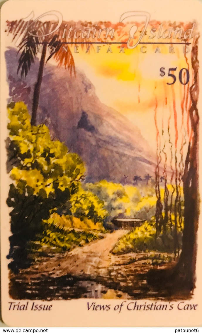 "PITCAIRN ISLAND  -  Phonecard  -  Views Of Christian's Cave ""  -  $50.00 - Pitcairn Islands"