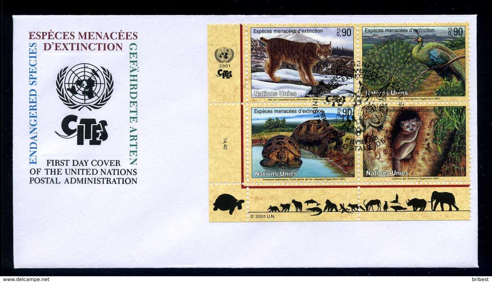 UNO GENF 2001 Nr 409-412 Gestempelt (102705) - Briefmarken