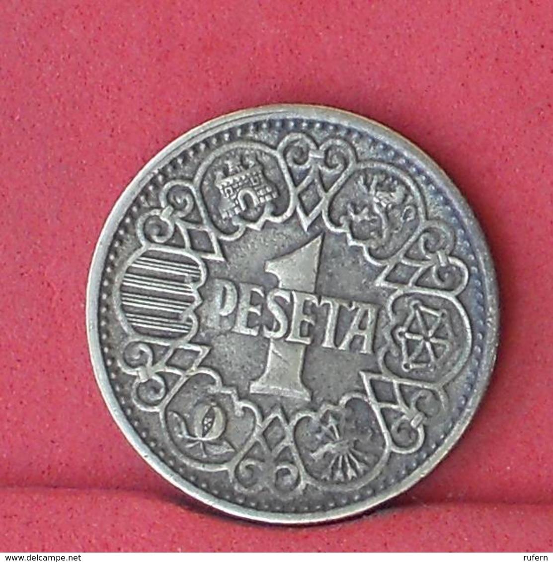 SPAIN 1 PESETA 1944 -    KM# 767 - (Nº33828) - 1 Peseta