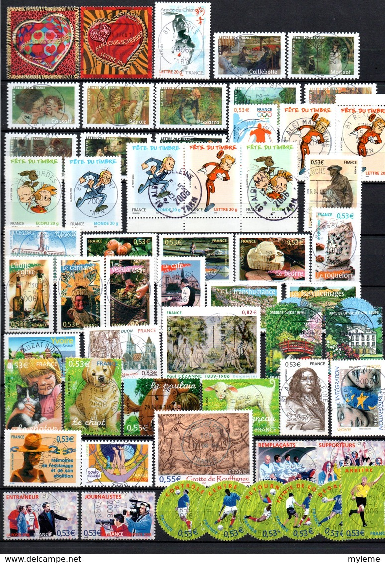 B418 Timbres De France Année 2006 Avec Oblitérations Rondes (2 Scans)  Côte 138 Euros. Très Sympa !!! - Timbres
