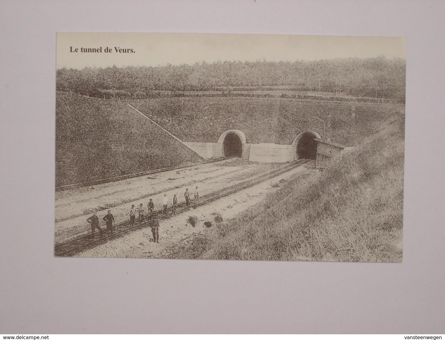 Le Tunnel De Veurs (1925) - Equipe De Piocheurs Du Côté Montzen - Reproduction - Belgique