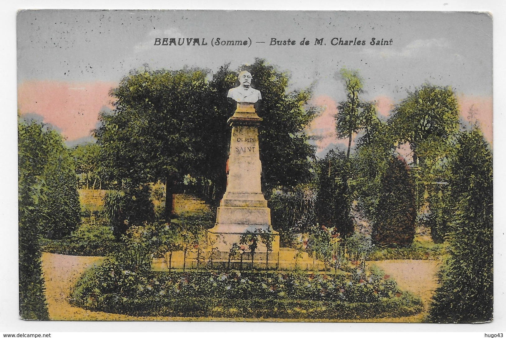 BEAUVAL - BUSTE DE M. CHARLES SAINT - CPA COULEUR NON VOYAGEE - Beauval