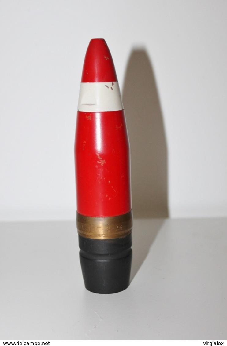 Fusée / Ogive De Munition 40mm INERTE N°2 - Militaria / Arme / Artillerie / Obus / Explosif / Projectile / Militaire - Armes Neutralisées