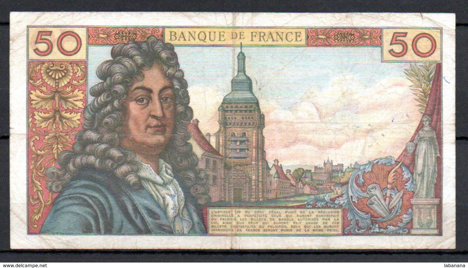 628-France Billet De 50 Francs 1975 H D284 - 50 F 1962-1976 ''Racine''