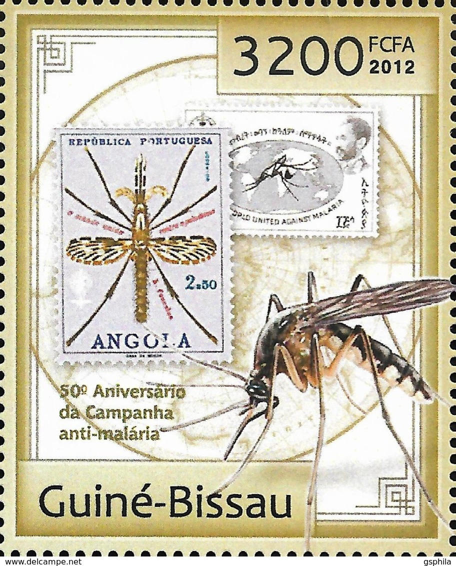 Guinea Bissau Anti Malaria Campaign Stamp On Stamp Mosquito 1v Michel:6386 - Unclassified
