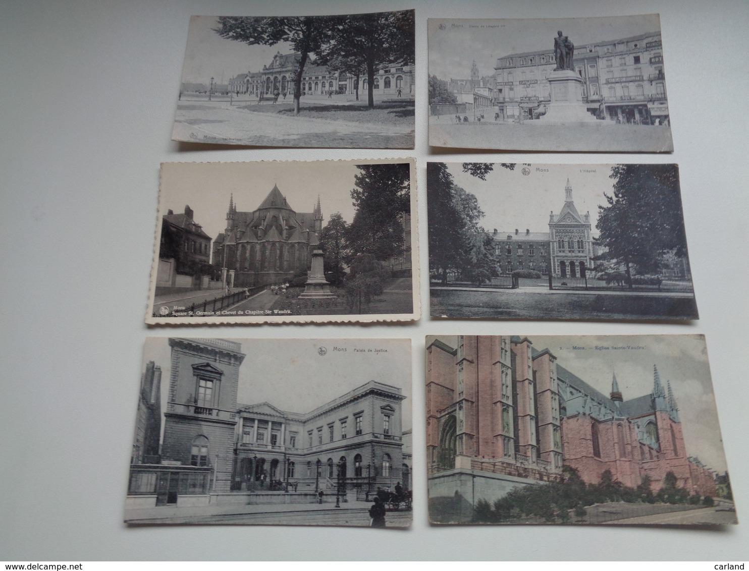 Lot De 20 Cartes Postales De Belgique   Mons    Lot Van 20 Postkaarten Van België  Bergen - 20 Scans - Cartes Postales