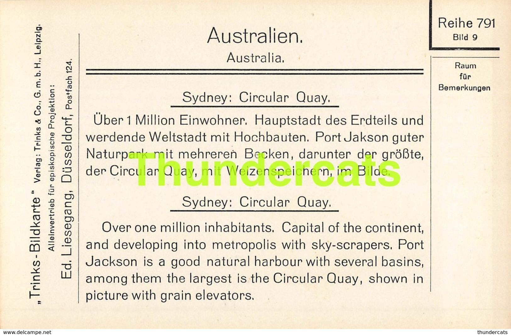 CPA CARTE DE PHOTO RPPC REAL PHOTO POSTCARD AUSTRALIEN AUSTRALIA SYDNEY CIRCULAR QUAY - Sydney