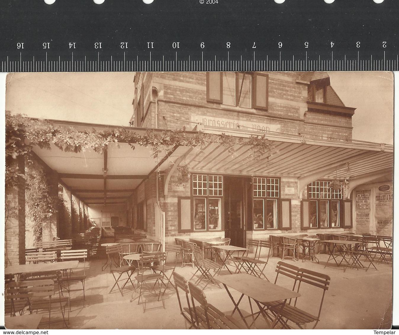 """Rixensart - Genval """"Café Du Paon"""" - Propriétaire Pierre Augustus Tel 86 - Photo 15 X 10 Cm Bistre - Rixensart"""
