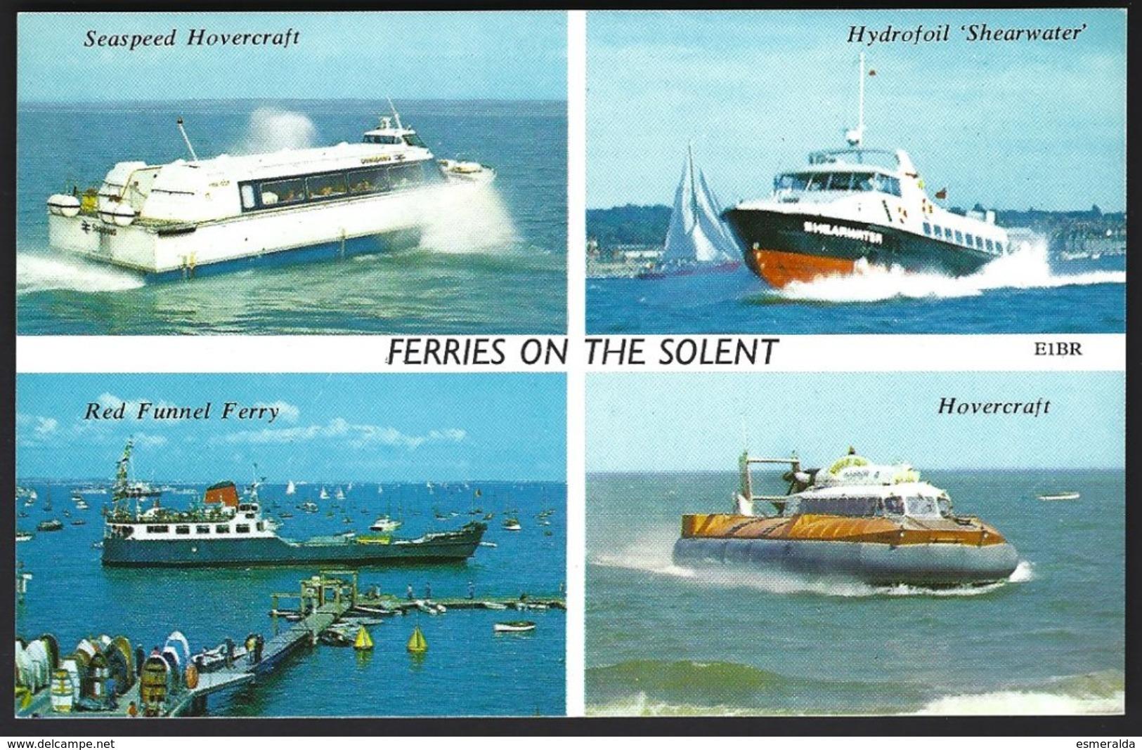 PC  H.Barton- Ferries On The Solent,multivues. Unused - Ferries