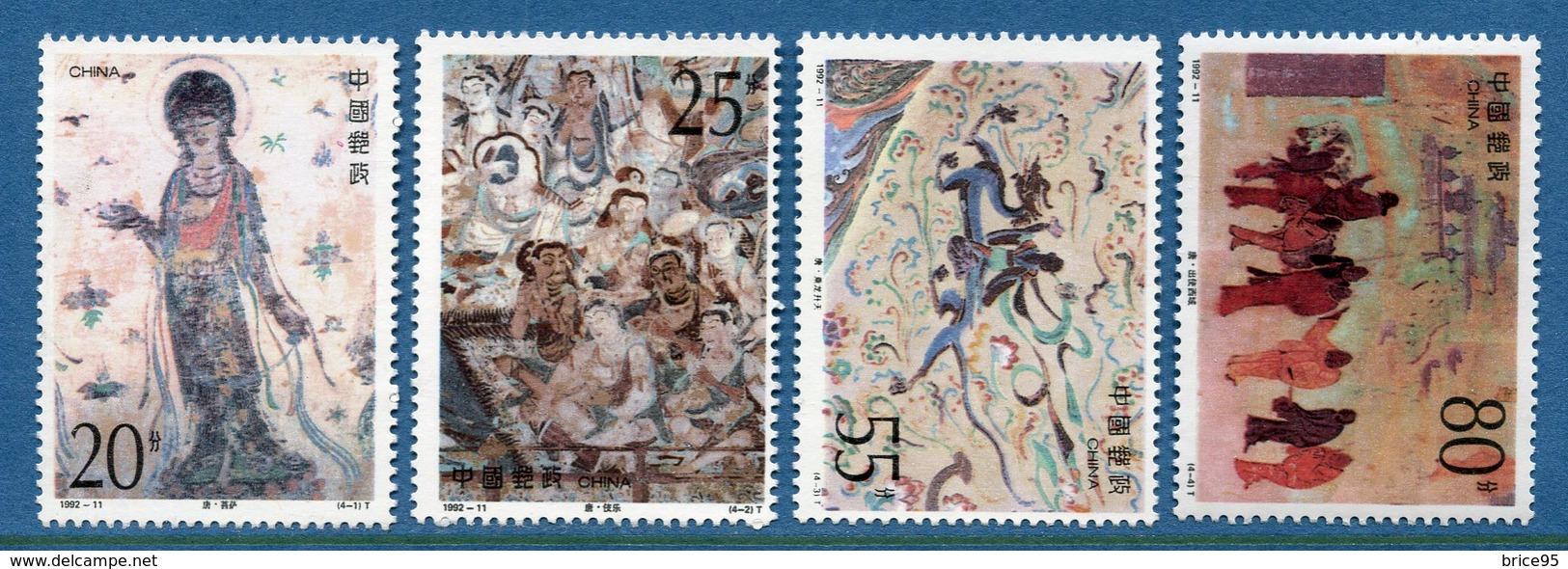 Chine - YT N° 3132 à 3135 - Neuf Sans Charnière - 1992 - 1949 - ... People's Republic