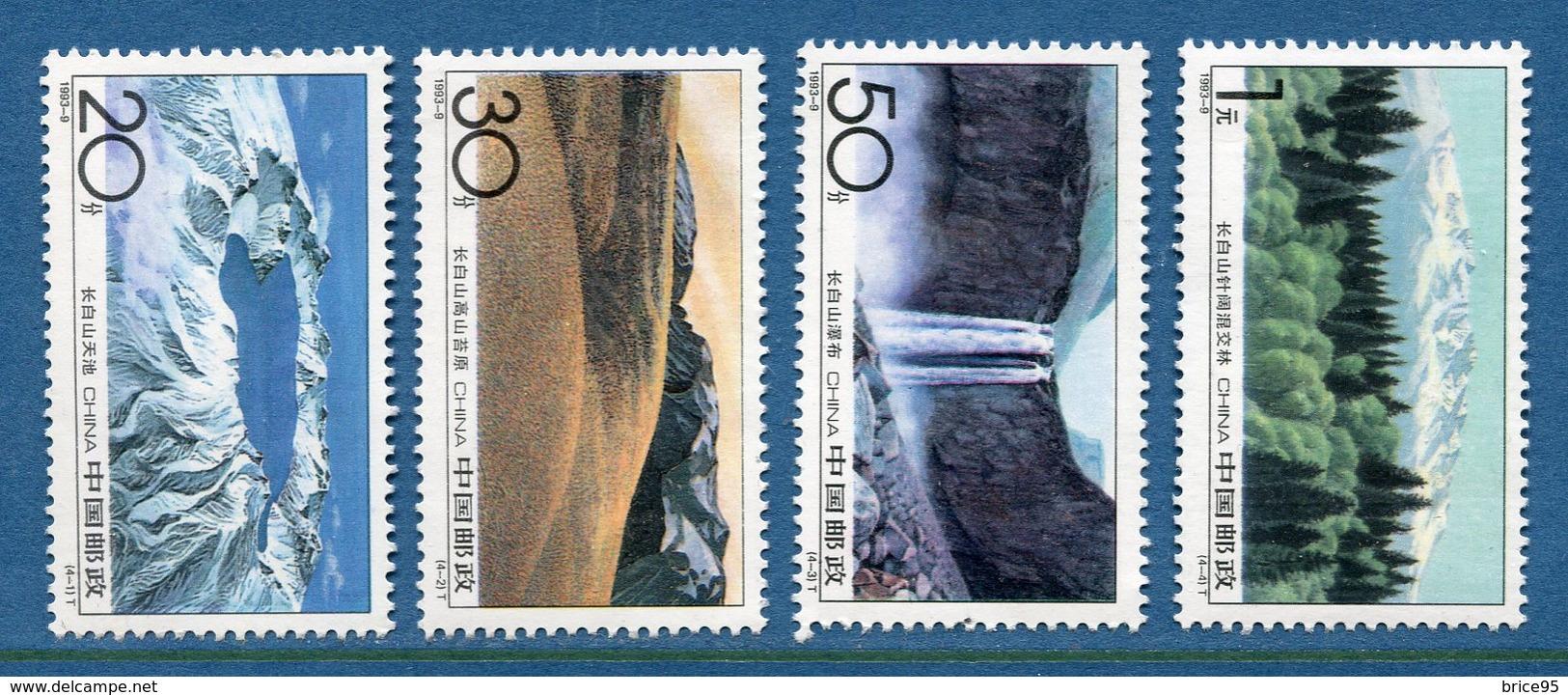Chine - YT N° 3175 à 3178 - Neuf Sans Charnière - 1993 - 1949 - ... People's Republic