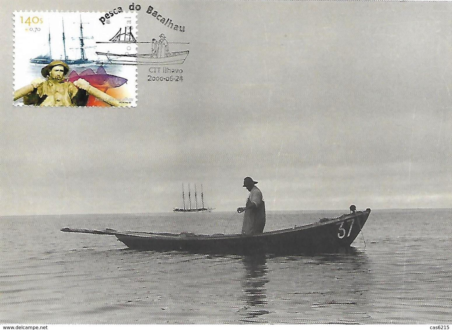 Portugal 2000 Pêche à La Morue à La Ligne Maxicard Carte Maximum - Usines & Industries