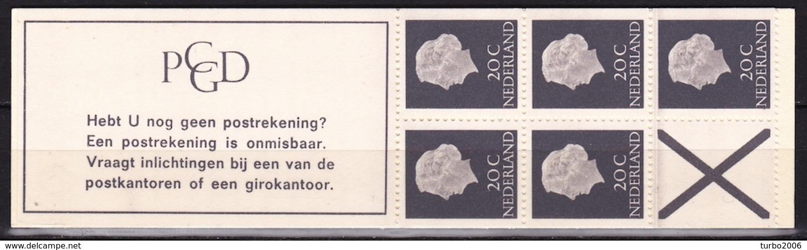 1966 PZB Boekje 5 X 20 Ct Koningin Juliana Normaal Papier PB 6 D Postfris - Carnets