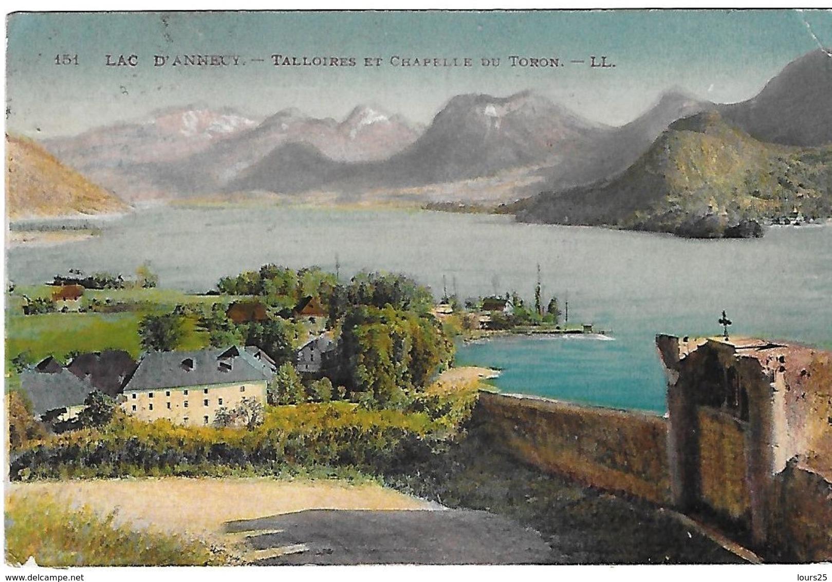 ! - France - Lac D'Annecy - Talloires Et Chapelle Du Toron - 2 Scans - Annecy