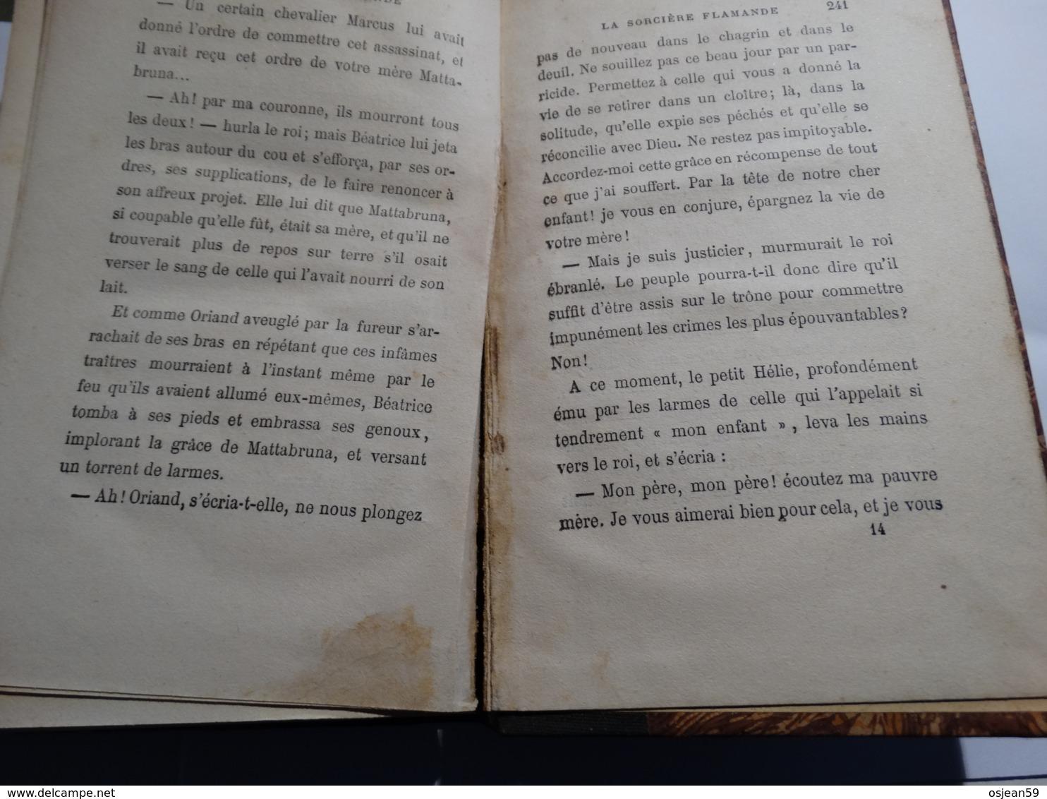 Henri Conscience - La Sorcière Flamande - Année 1888 - 246 Pages. Etat : Voir Scan. - Belgio