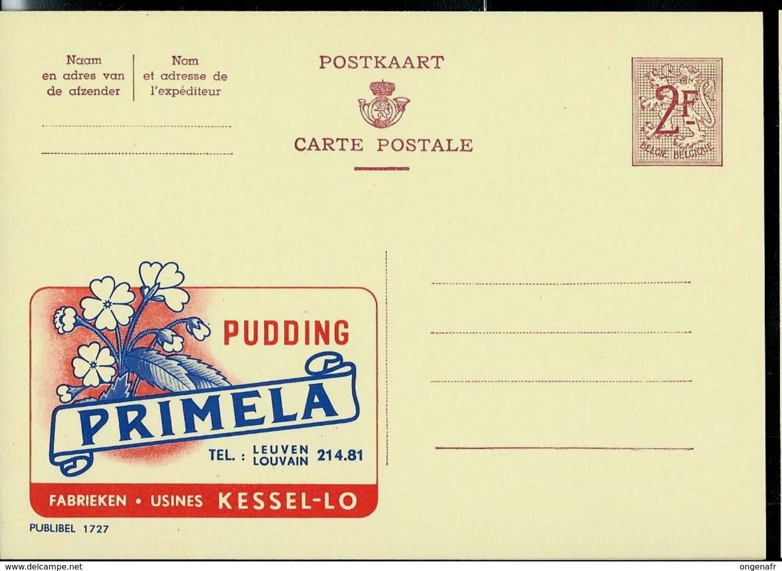 Publibel Neuve N° 1727  ( Pudding PRIMELA - Kessel-Lo) - Entiers Postaux