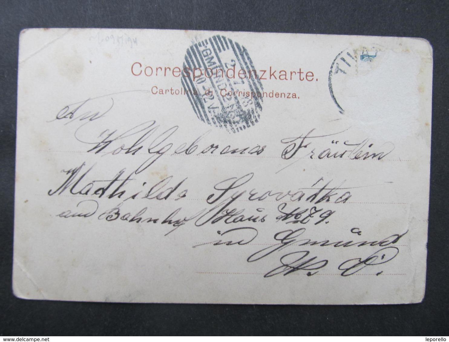 AK POLA Pula Parkstrasse 1898 /// D*42585 - Kroatien