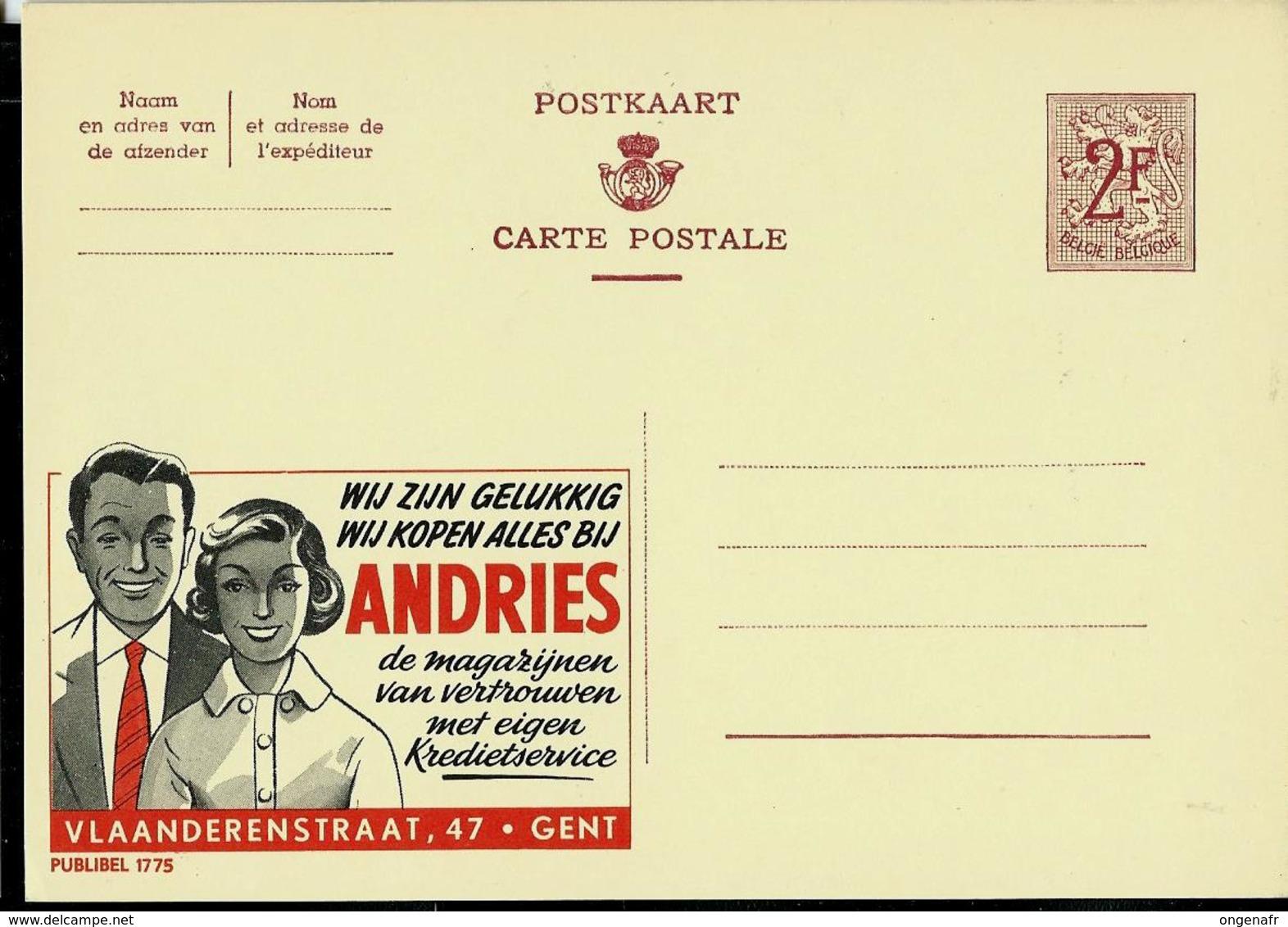 Publibel Neuve N° 1775  ( ANDRIES   -  Gent) - Entiers Postaux