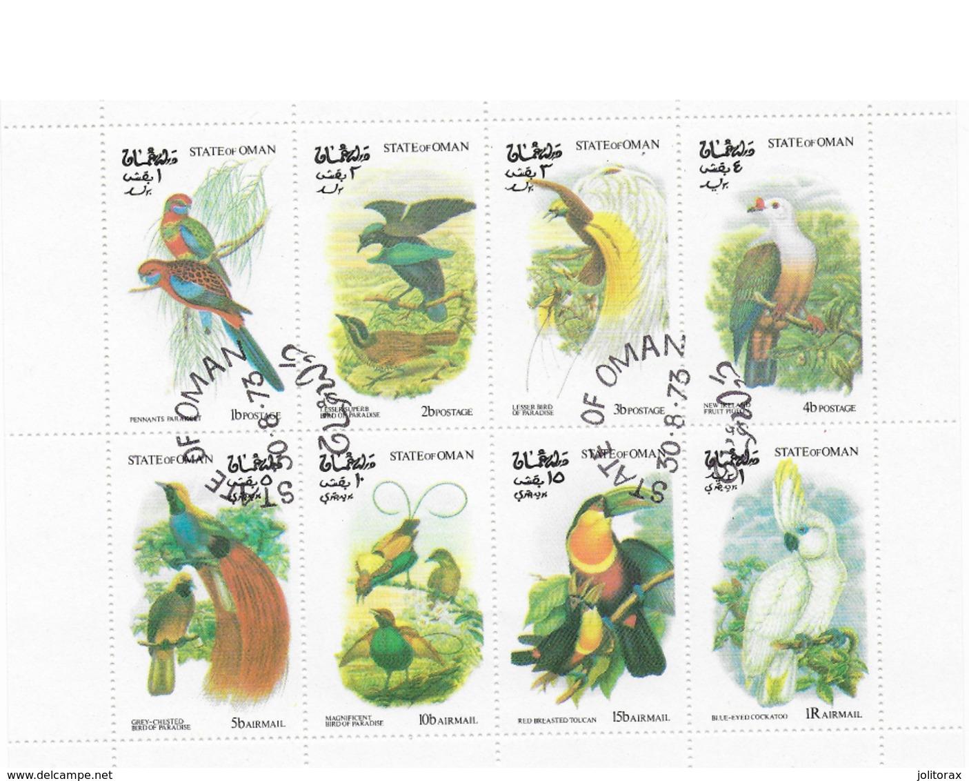 Bloc  Oiseaux Oman Oblitéré - Birds
