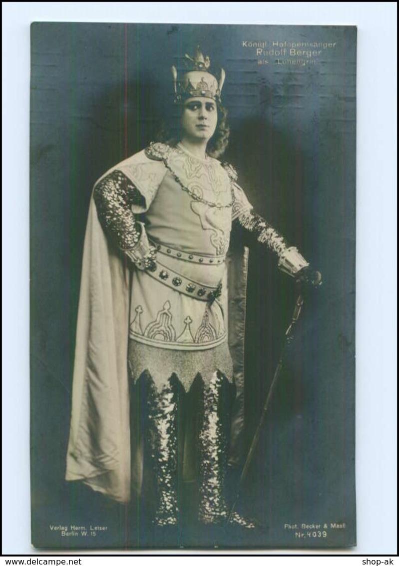 Y14479/ Hofopernsänger Rudolf Bergen Als Lohengrin Foto AK 1909 Oper Wagner - Sänger Und Musikanten