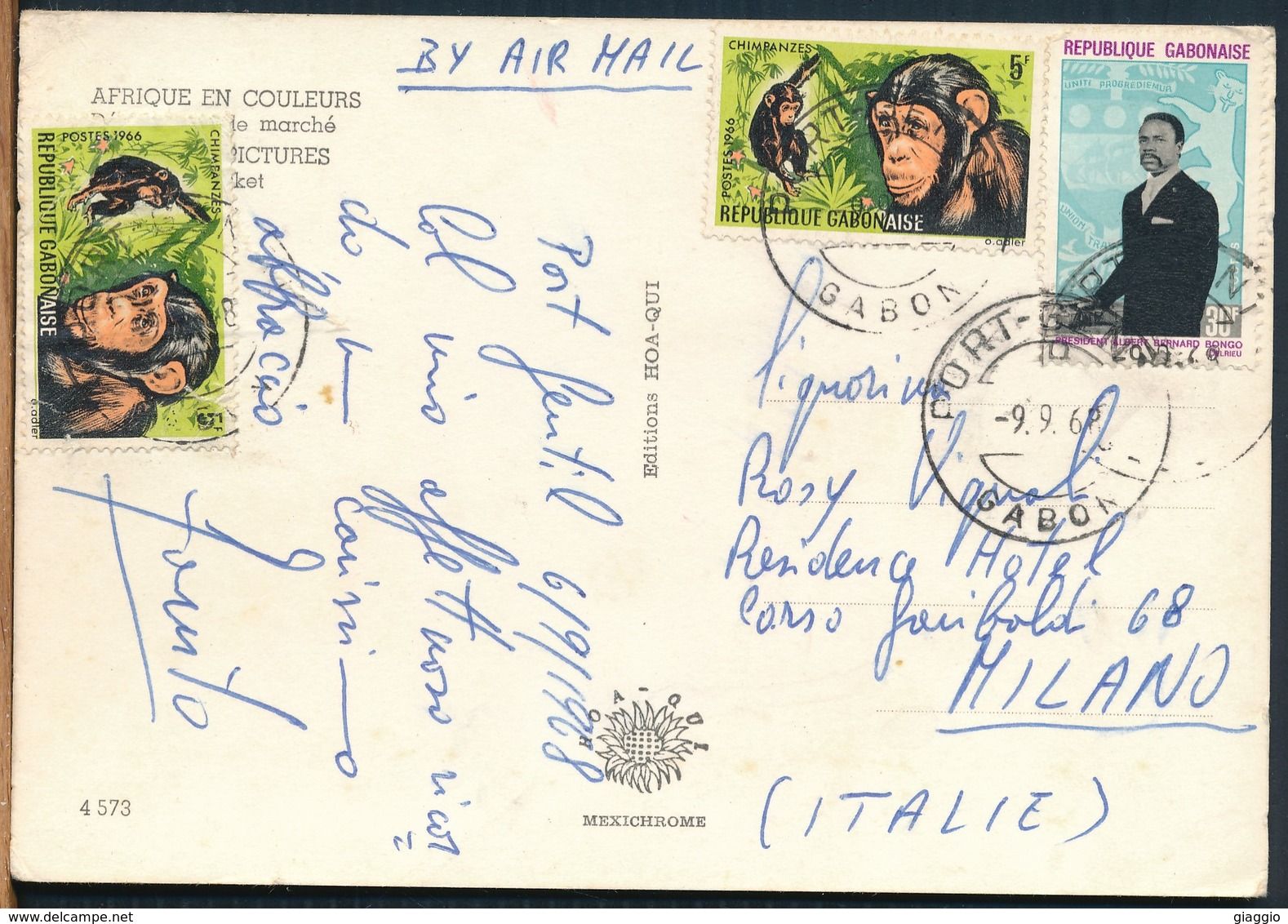 °°° 19089 - GABON - LE MARCHE - 1968 With Stamps °°° - Gabon