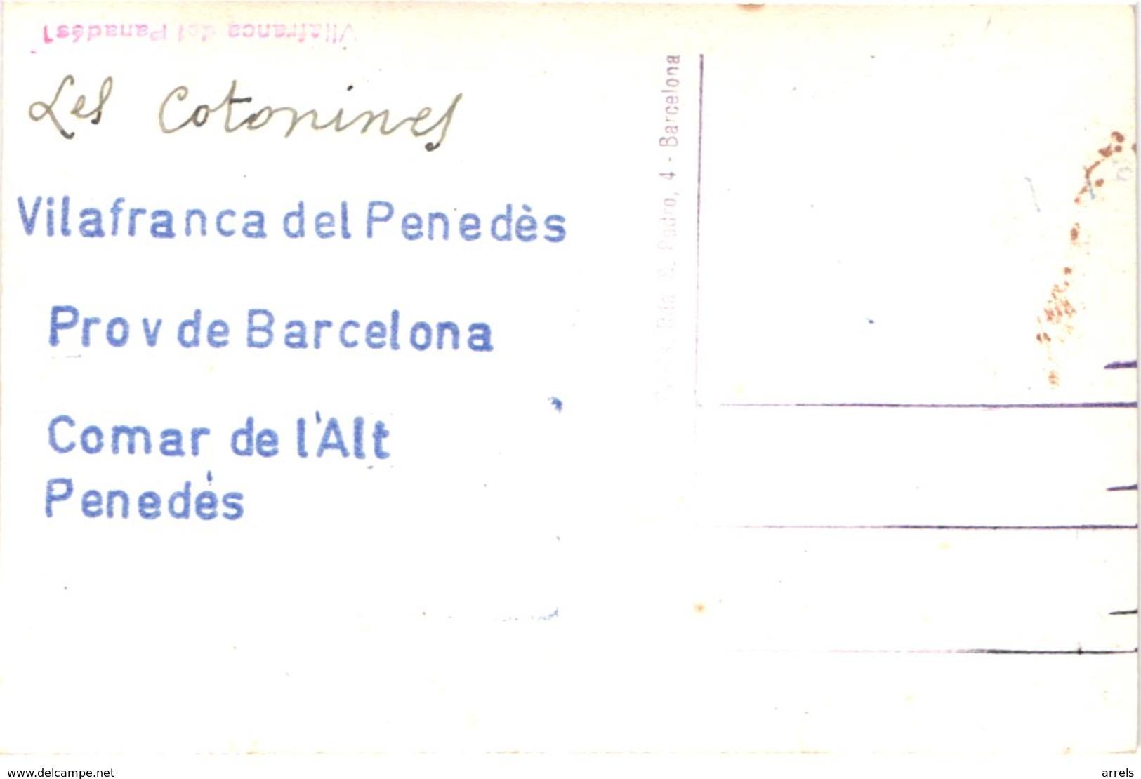 ES VILAFRANCA DE PENEDES - Carte Photo - Baile De Los Caballitos - Cavallets - Cavaliers - Geants - Animée - Belle - Barcelona
