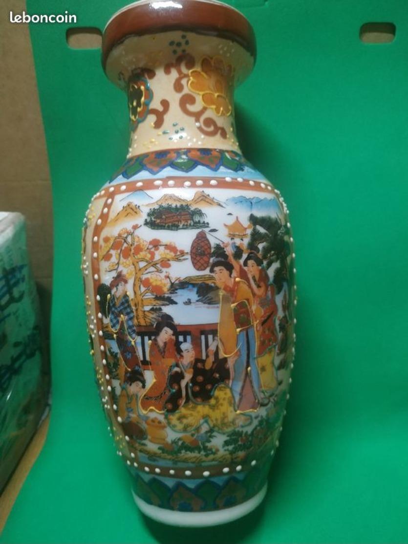 Superbe Vase Japonais Asiatique Voir Les Photos - Petit Prix De Départ - Bonne Enchères - Autres