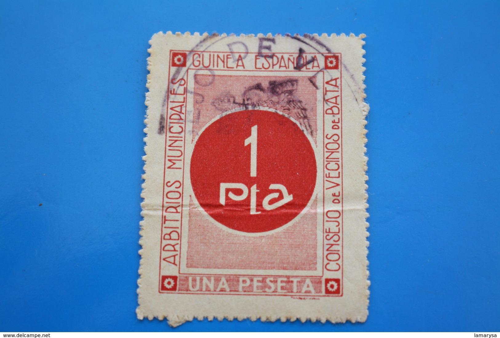 Miniatura España Colonias Y Dependencia Guiné A Espagnola Consejo De Vecinos Arbitrios Muni Espagne  Erinnophilie,Viñeta - Guinea Española
