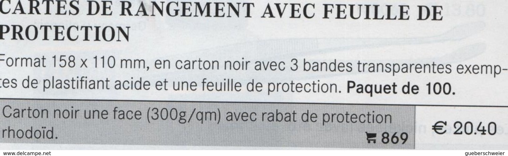 Paquet De 100 Cartes De Classement Lindner Réf. 869 Ft 158 X 110 Occasion Bon état - Cartoncini A Listelli