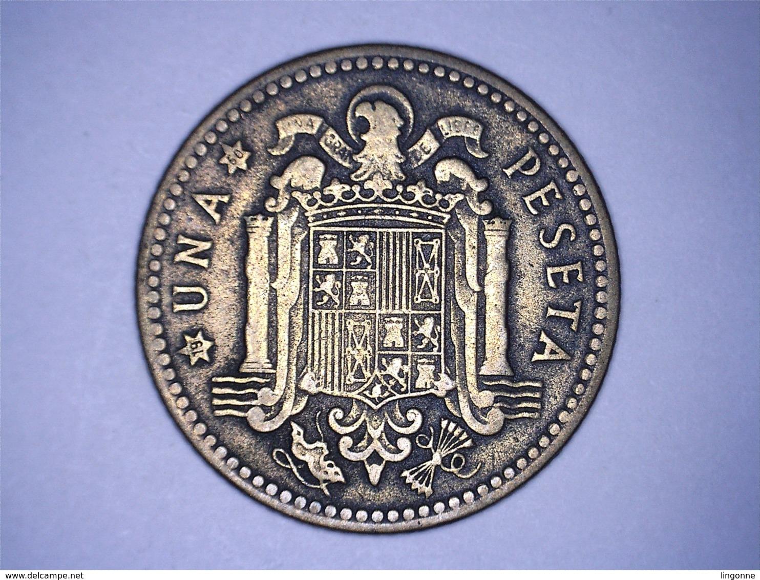 1947 - Espagne - Spain - UNA PESETA, ETOILE 50 - 1 Peseta