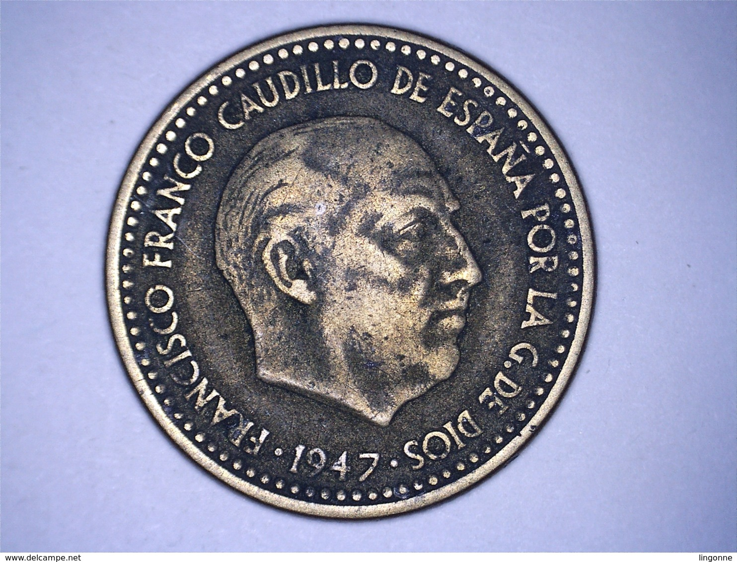 1947 - Espagne - Spain - UNA PESETA, ETOILE 54 - 1 Peseta