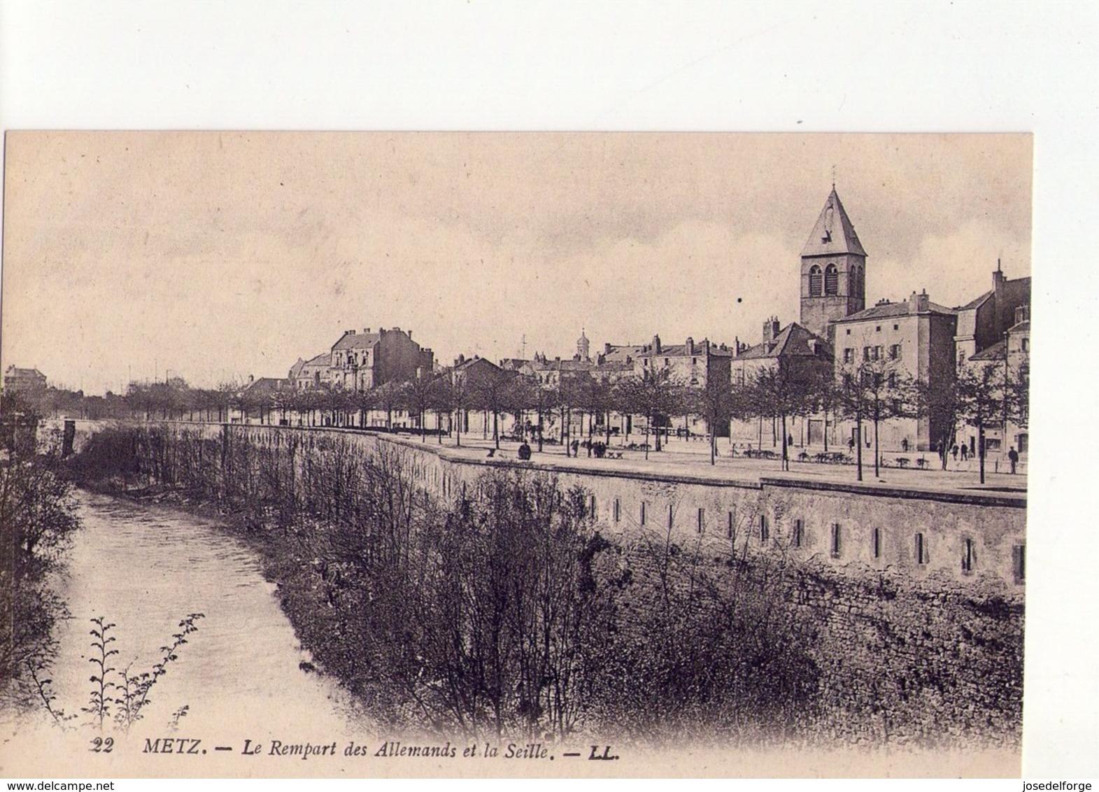 CPA - 57 - 19 - METZ  - LE REMPART DES ALLEMANDS ET LA SEILLE - N° 22 - - Metz