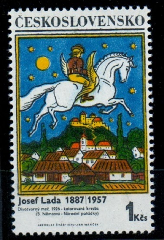 1970 Michel: 1936 II.type ** MNH - POFIS: 1824 II.typ - DARK BLUE - Tschechoslowakei/CSSR