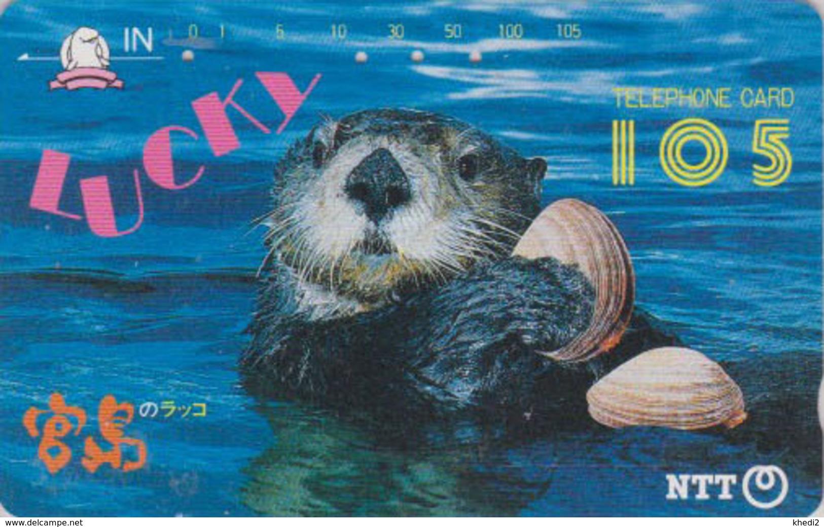 Télécarte JAPON / NTT 350-084 - ANIMAL - LOUTRE & COQUILLAGE - OTTER & SHELL JAPAN Phonecard - Autres