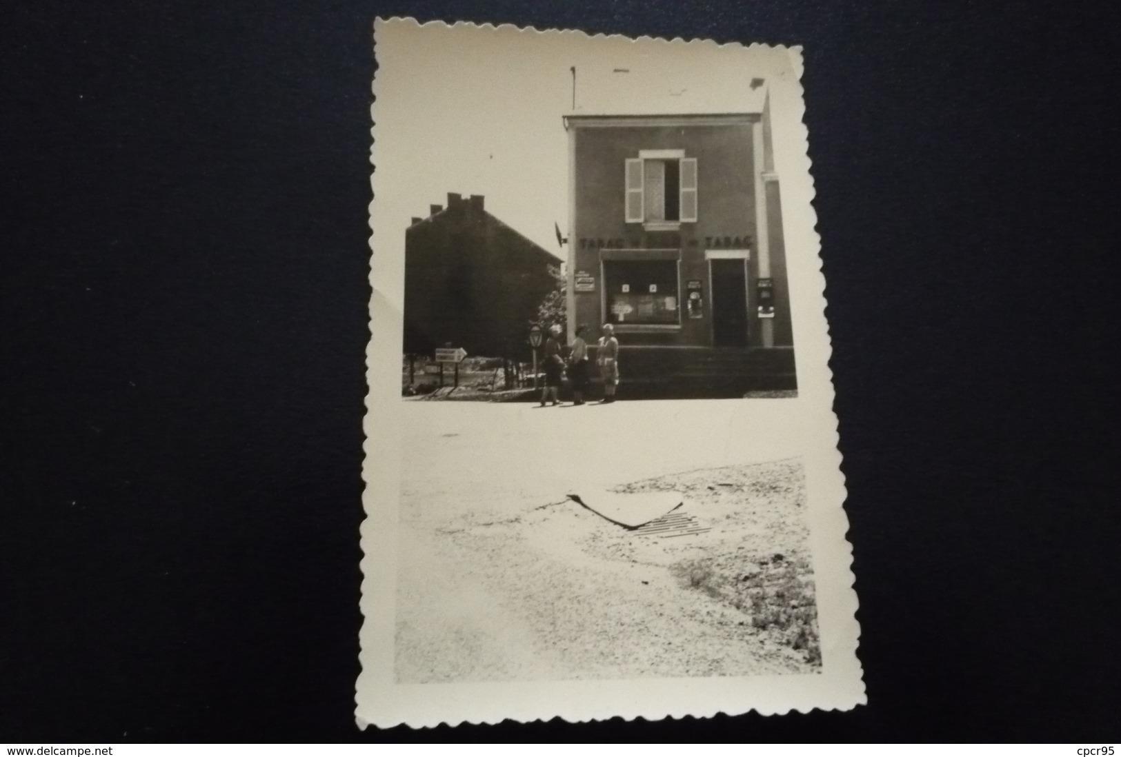 204035 .flize . 08 .lot De 1 Carte Photo Et De 2 Photo.café Du Bon Coin.tabac.goulet Turpin - France