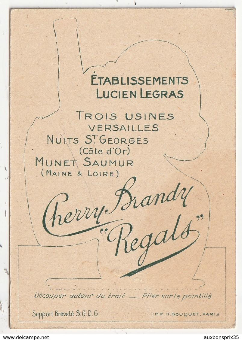 CARTE PUBLICITAIRE - MISTINGUETTE - CHERRY BRANDY REGALS - ETABLISSEMENTS L. LEGRAS - 3 USINES VERSAILLES MUNET NUIT ST - Pubblicitari