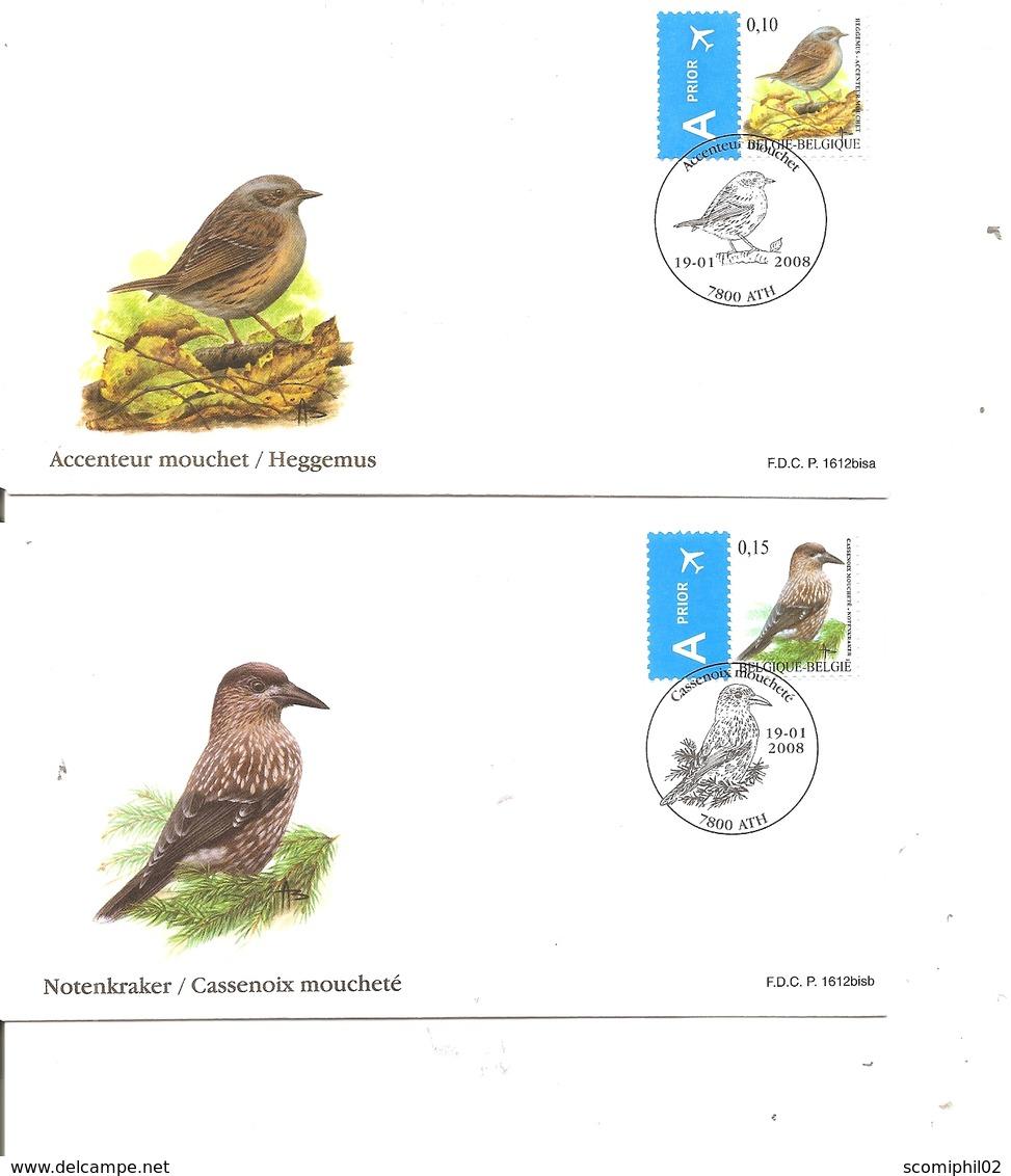 Belgique - Buzin - Oiseaux ( 2 FDC De 2008 à Voir) - FDC