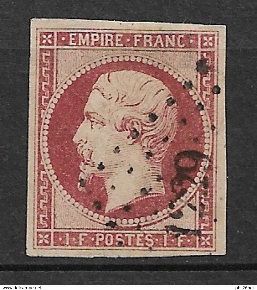 Rare 1 Franc  Carmin N° 18  Oblitéré B Petits Chiffres 1229 EVRON  Aspect Superbe Cote: 3250 €  Prix De Départ 0,95 €  ! - 1853-1860 Napoleon III