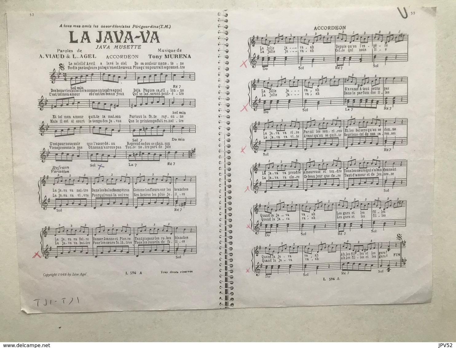 (158) Partituur - Partition - La Java-Va - Tony Murena - Partituren