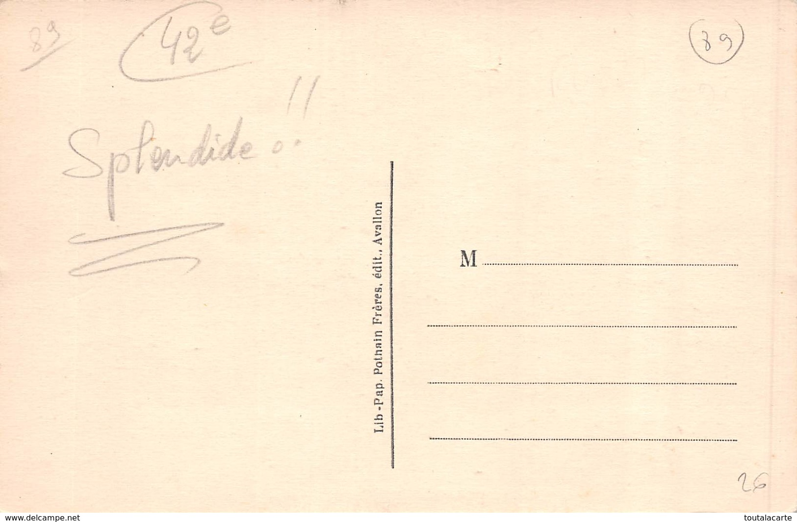 CPA 89 M.CHOLLE DEMENAGE D AVALLON  1928 - Avallon
