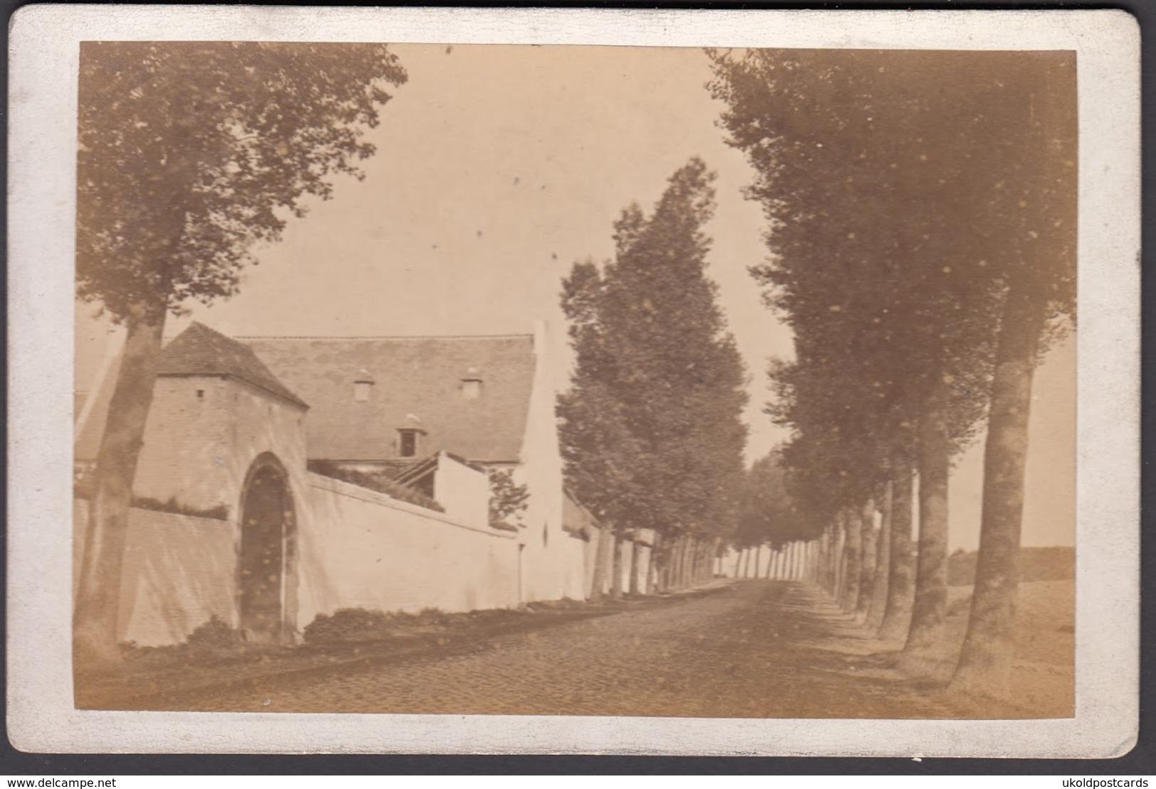 BELGIQUE -  Waterloo, La Haie-Sainte, C 1870 - Cabinet Photograph - Old (before 1900)