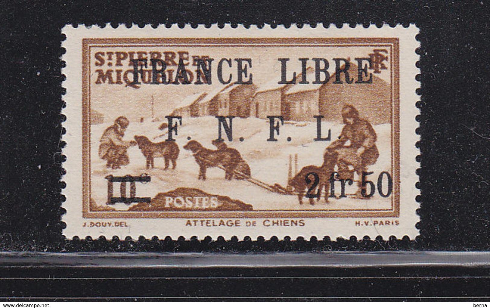 SAINT PIERRE ET MIQUELON FRANCE LIBRE 278 LUXE NEUFS SANS CHARNIERE - St.Pierre Et Miquelon