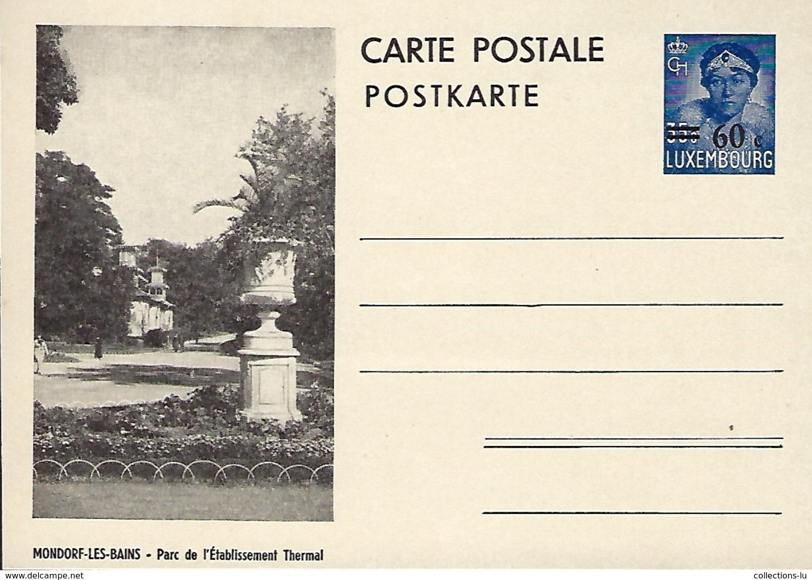 Luxembourg  -  Carte Postale - Postkarten - Mondorf-les-Bains - Parc De L'Établissement Thermal - Entiers Postaux