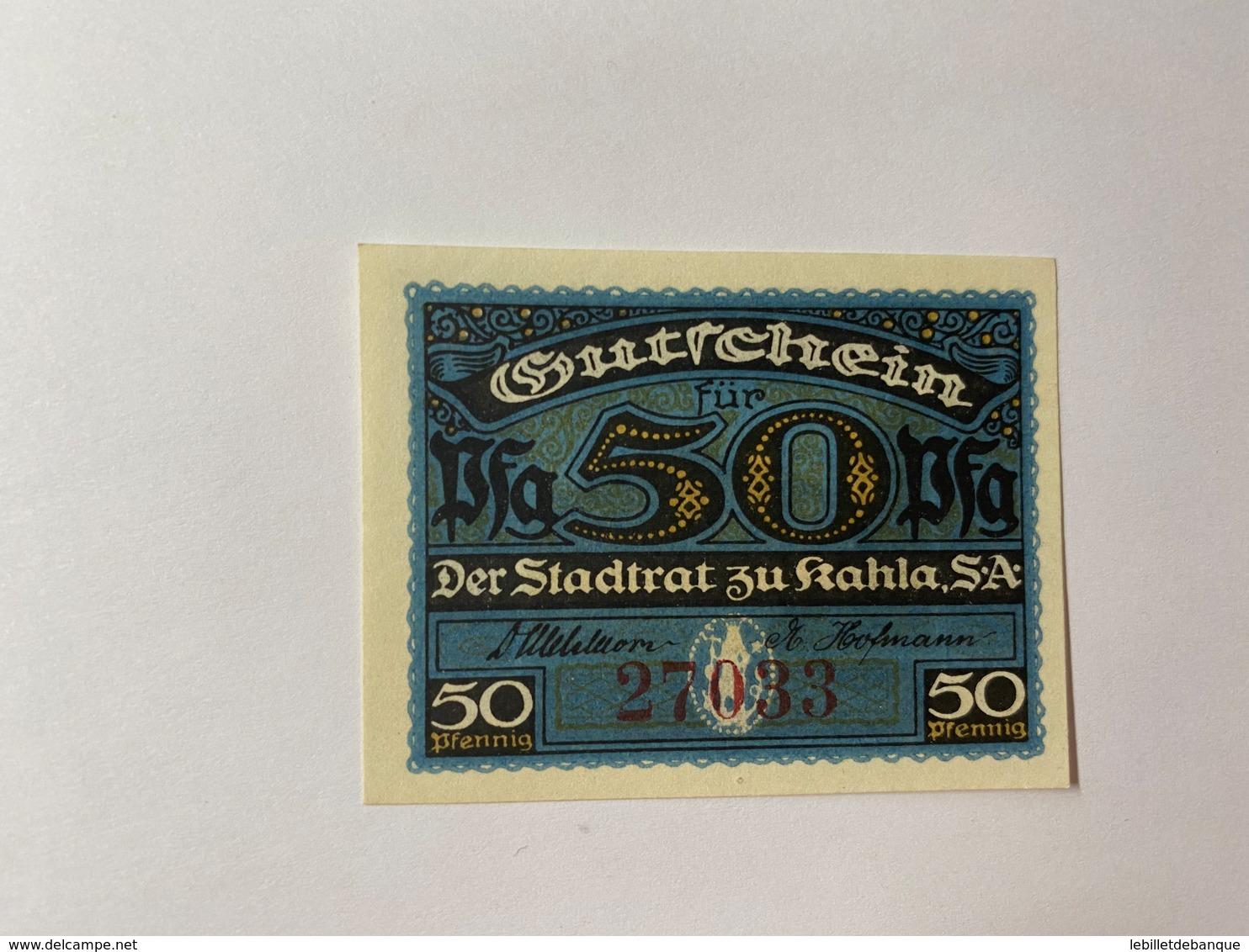 Allemagne Notgeld Khala 50 Pfennig - [ 3] 1918-1933 : République De Weimar
