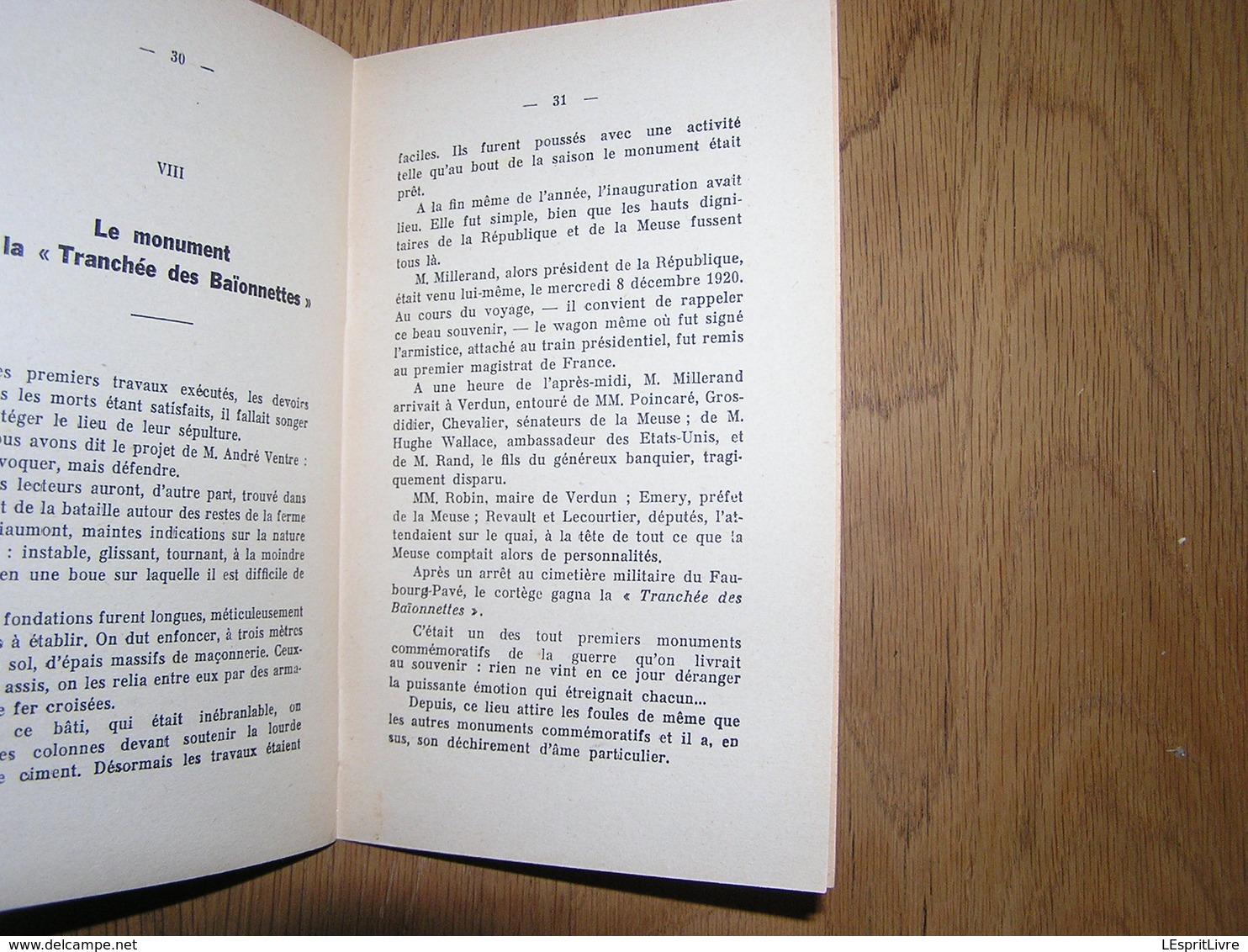 LA TRANCHEE DES BAIONNETTES Son Histoire Guerre 1914 1918 Fort Douaumont Verdun Vendéens Bretons Poilus 14 18 - Guerra 1914-18