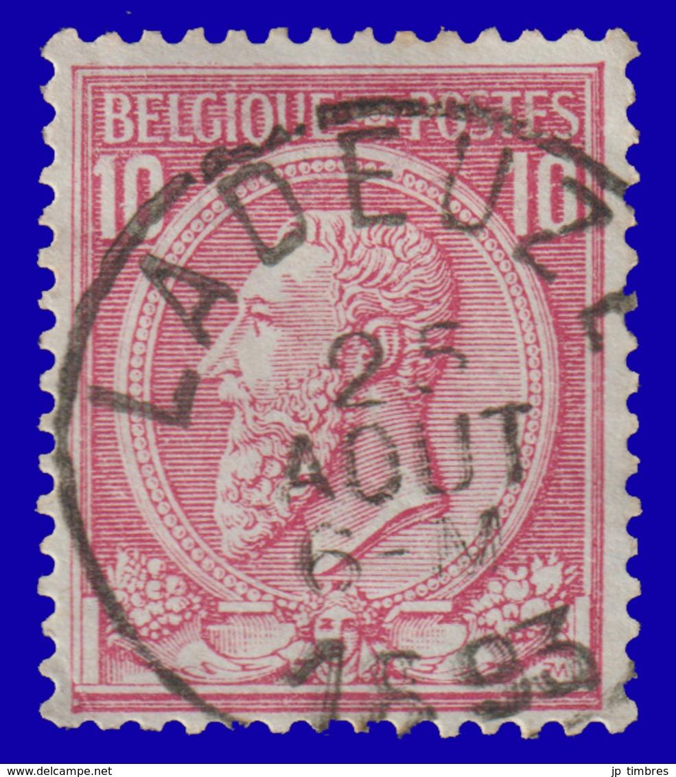 "COB N° 46 - Belle Oblitération - ""LADEUZE"" - 1884-1891 Leopoldo II"