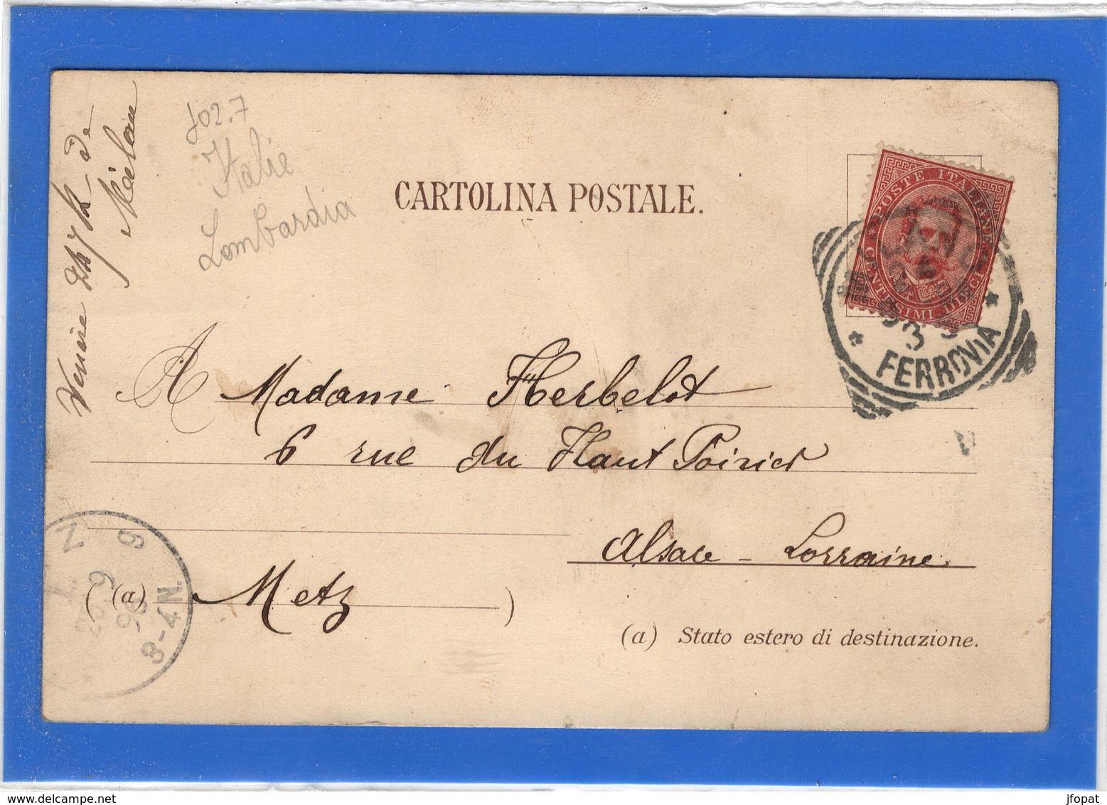 ITALIE - MILANO Ricordo, Pionnière De 1896 - Milano (Milan)