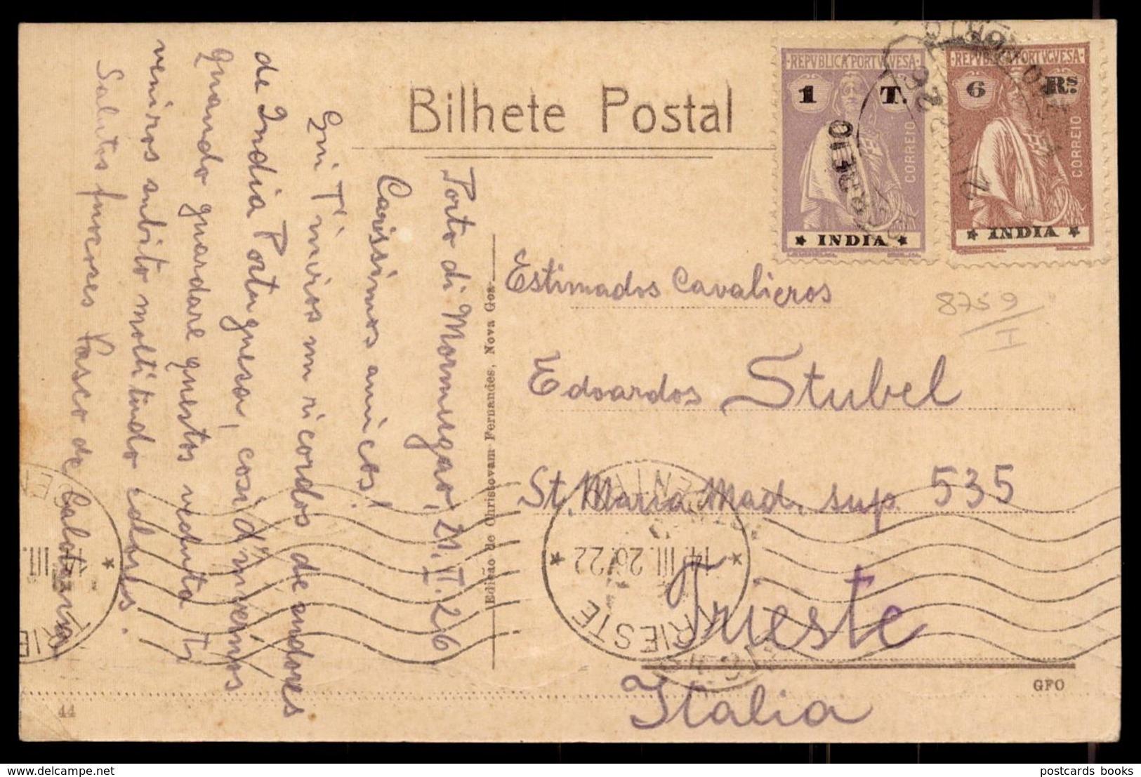 MORMUGOA India Portuguesa VASCO Da GAMA. Postal Ediçao Chistovam Fernandes. Circulado 2 Selos PORTUGAL COLONIAL - Inde